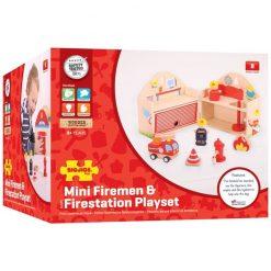 Drewniany zestaw Straż Pożarna | ZabawkiRozwojowe.pl - sklep internetowy z zabawkami rozwojowymi