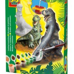 T-Rex - odlew gipsowy 3D, SES Creative - zabawka plastyczna | ZabawkiRozwojowe.pl