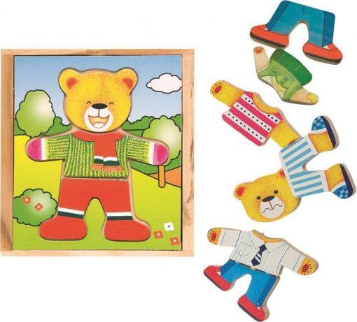 Drewniana układanka Pan Miś | ZabawkiRozwojowe.pl - sklep internetowy z zabawkami rozwojowymi