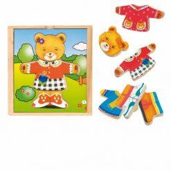 Drewniana układanka Pani Misiowa | ZabawkiRozwojowe.pl - sklep internetowy z zabawkami rozwojowymi