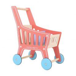 Drewniany wózek na zakupy | ZabawkiRozwojowe.pl - sklep internetowy z zabawkami rozwojowymi