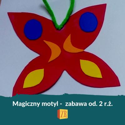 Zabawa barwny motyl