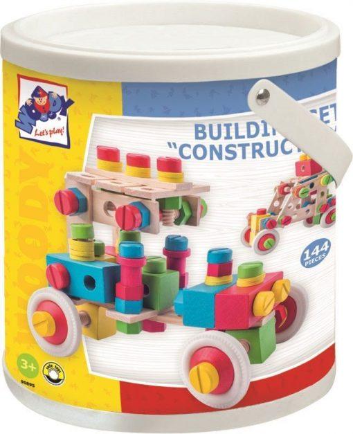 Drewniany zestaw konstrukcyjny dla dzieci - drewniane klocki dla dzieci