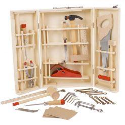 Półprofesjonalny drewniany zestaw narzędzi w walizce | ZabawkiRozwojowe.pl