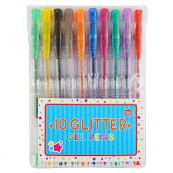 Długopisy żelowe brokatowe