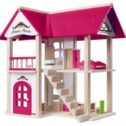 Drewniany domek dla lalek Villa Anna Maria | ZabawkiRozwojowe.pl