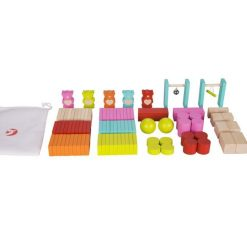 Drewniana gra domino Misie | ZabawkiRozwojowe.pl - sklep internetowy z zabawkami rozwojowymi