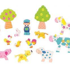 Drewniany zestaw do układania | ZabawkiRozwojowe.pl - sklep internetowy z zabawkami rozwojowymi