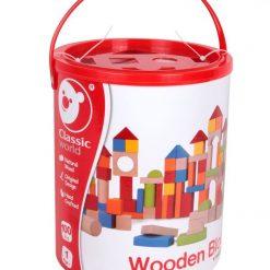Duże klocki drewniane z sorterem | ZabawkiRozwojowe.pl - sklep internetowy z zabawkami rozwojowymi