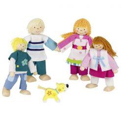 Drewniane lalki do domku Rodzina Susibelle | ZabawkiRozwojowe.pl - sklep internetowy z zabawkami rozwojowymi