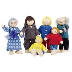Drewniana rodzinka lalek firmy Goki | ZabawkiRozwojowe.pl - sklep internetowy z zabawkami rozwojowymi