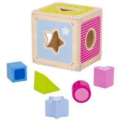 Drewniany Sorter Kostka - zabawka sensoryczna | ZabawkiRozwojowe.pl