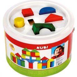 Drewniane klocki w wiaderku z sorterem | ZabawkiRozwojowe.pl - zabawki drewniane dla dzieci