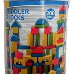 Drewniane klocki w wiaderku 200 sztuk | ZabawkiRozwojowe.pl - zabawki na święta