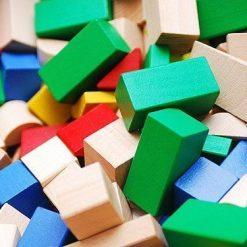 Kolorowe klocki konstrukcyjne