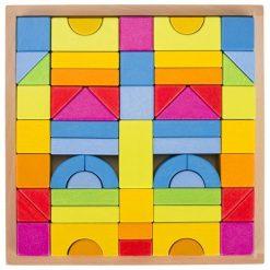 Drewniane klocki konstrukcyjne Rainbow | ZabawkiRozwojowe.pl - zabawki edukacyjne dla dzieci