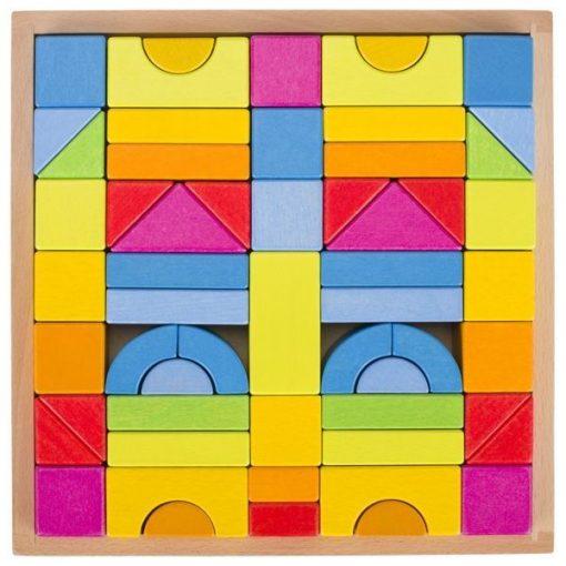 Drewniane klocki konstrukcyjne Rainbow   ZabawkiRozwojowe.pl - zabawki edukacyjne dla dzieci