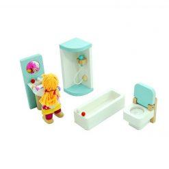 Drewniane mebelki dla lalek: Łazienka