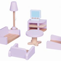 Drewniane mebelki dla lalek - Salon | ZabawkiRozwojowe.pl
