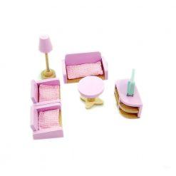 Drewniane mebelki dla lalek: Salon
