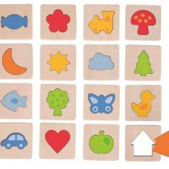 Gra pamięciowa memory Kształty - ZabawkiRozwojowe.pl - sklep internetowy z zabawkami rozwojowymi