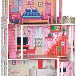 Ogromny drewniany domek dla lalek z mebelkami | ZabawkiRozwojowe.pl - sklep internetowy z zabawkami rozwojowymi