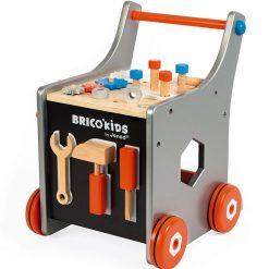 Drewniany wózek-warsztat z narzędziami Brico Kids | ZabawkiRozwojowe.pl
