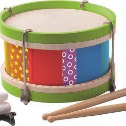 Kolorowy bębenek na pasku - zabawka muzyczna | ZabawkiRozwojowe.pl