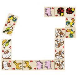 Gra logiczna Domino Zwierzaki na wsi