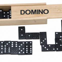 Zestaw klocków domino w pudełku