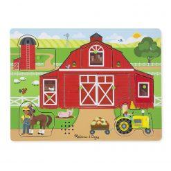 puzzle dźwiękowe Na farmie
