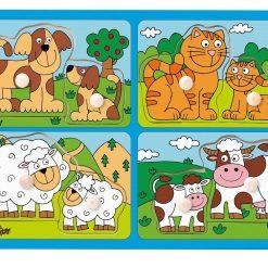 Drewniana układanka Zwierzęta