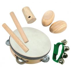Drewniany zestaw instrumentów | ZabawkiRozwojowe.pl