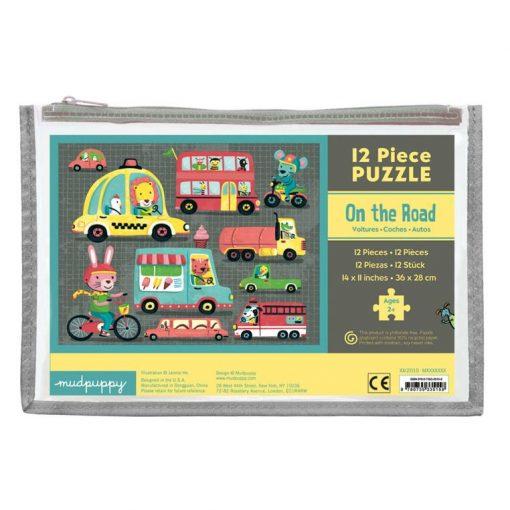Zestaw grubych puzzli Na ulicy