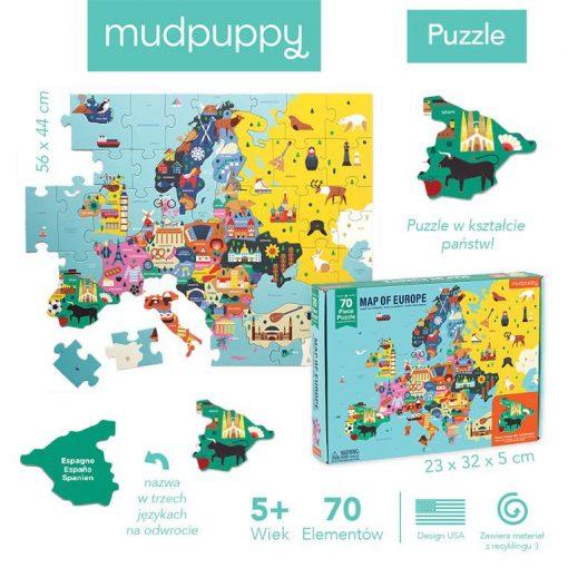 Puzzle edukacyjne Mapa Europy