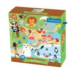 Puzzle podłogowe Zoo