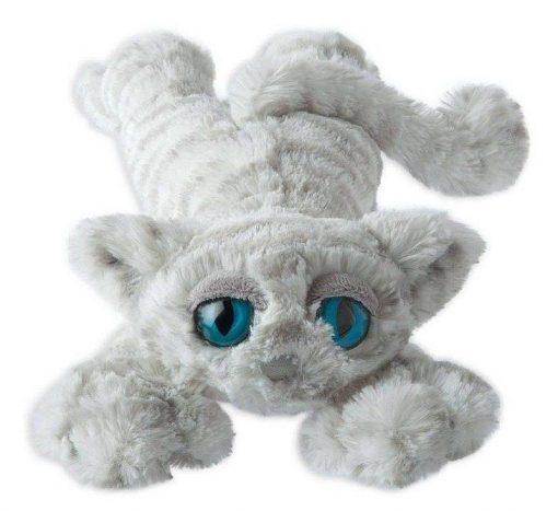 Lanky Cats - biały kotek przytulanka