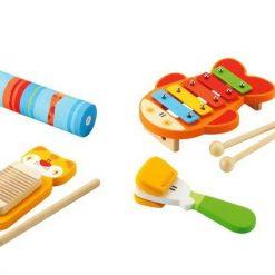 Drewniany zestaw rytmiczny - zabawki kreatywne | ZabawkiRozwojowe.pl