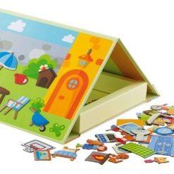 Magnetyczna układanka w książce Dom