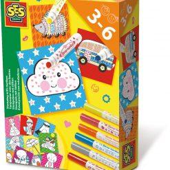 Mazaki do ozdabiania ze stempelkami SES Creative | Zabawki Rozwojowe