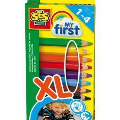Zabawka kreatywna - moje pierwsze kredki ołówkowe XL, SES Creative | ZabawkiRozwojowe.pl