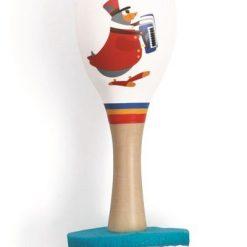 Drewniany marakas Fanfare - zabawka kreatywna | ZabawkiRozwojowe.pl