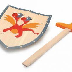 Tarcza i miecz Czerwony smok