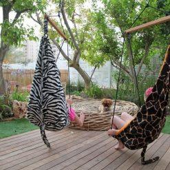 Bujany fotel-huśtawka Zebra