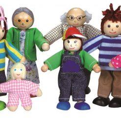 Rodzina lalek do domku dla lalek