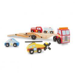 Ciężarówka z pojazdami