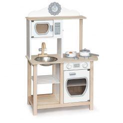 Drewniana kuchnia z akcesoriami