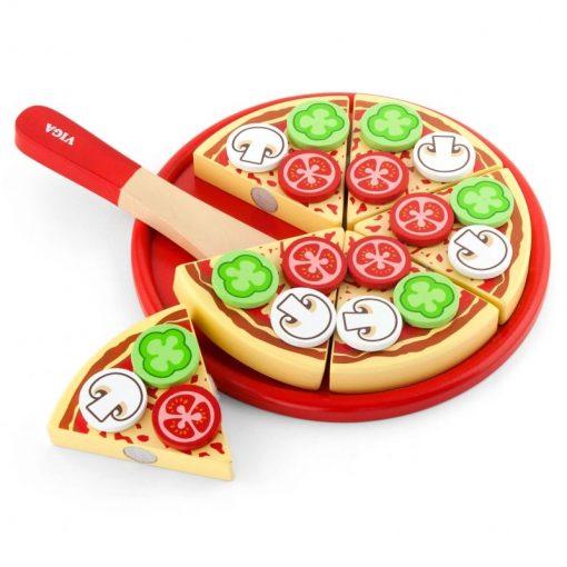 Pizza do krojenia z dodatkami