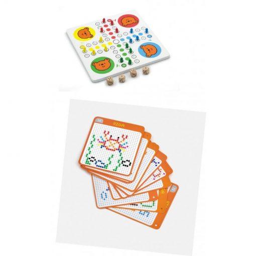 Układanka-gra 2w1 Mozaika i Chińczyk