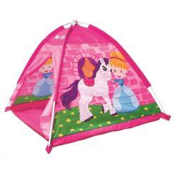 Różowy namiot z konikiem